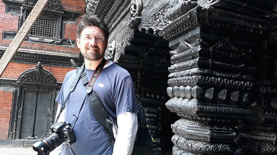 At Kumari Temple in Kathmandu