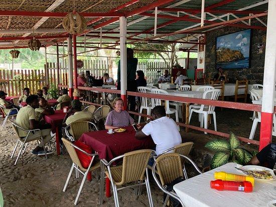 Сиудад-Велья, Кабо-Верде: Terrasse du restaurant