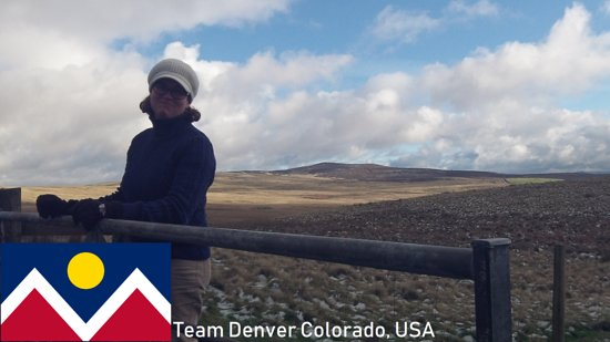 90 Dirty Adventures: One half of team Denver opening a gate for us on a very cold winters day.