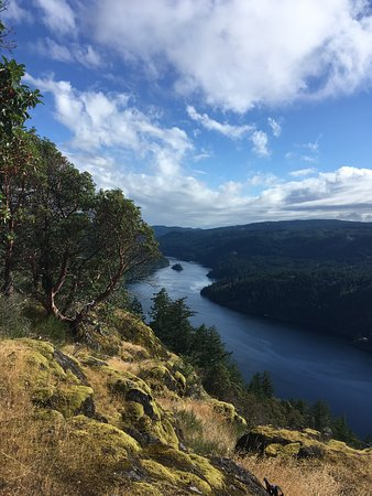 Top of Gowlland Tod Hike in Victoria: The view of the Saanich inlet. Gorgeous.
