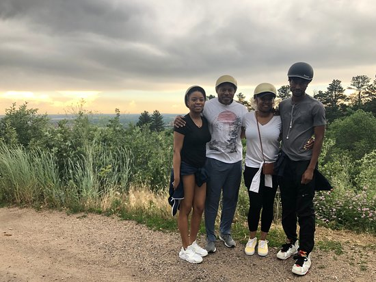 Best of Boulder E-Bike Tour: A the top of a hill in Boulder