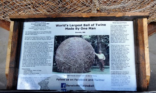 Darwin, MN: Francis Johnson and the making of the ball of twine