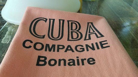 Cuba Compagnie: Logo napkin.
