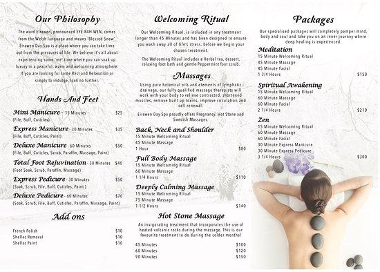 Eirawen Day Spa: Brochure
