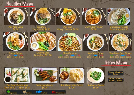 Noodle & Small Bites Menu
