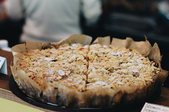 Varnsdorf, República Checa: jahlový koláč s mandlemi. Almond pie