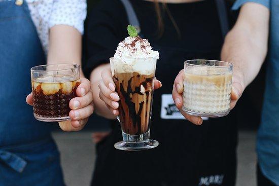 Varnsdorf, República Checa: ice coffee. ledoévé kávy. cold brew. ice-latte