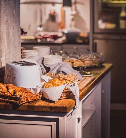 Frühstücksbuffet in der Kontorküche