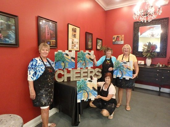 And Cheers to you ladies! Thanks for painting with us!