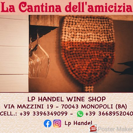 La Cantina dell'AMICIZIA - LP Handel - Wine Shop