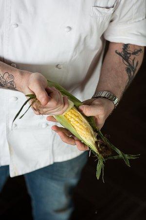 fresh corn from the Portland Farmer's Market