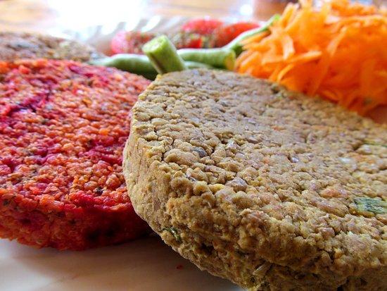 Medallones de Quinoa, Mijo, lentejas... COn diversidad de colores, vegetales y nutritivos para una alimentación consciente.