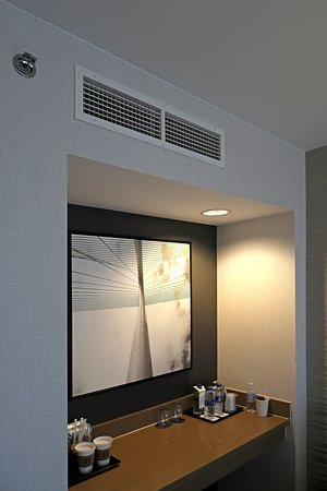 Dallas Sheraton - Room 2044 - Dry Bar Counter and Powerful AC Vent, Which Blows Onto Bed Closest to Window