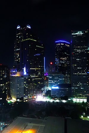 Dallas Sheraton - Room 2044 - View From Room of Dallas Skyline at Night