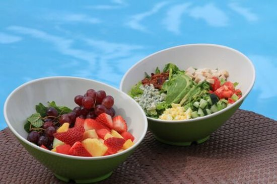 Waterside Cafe: Cobb and a Fruit Salad Available Daily