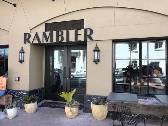 Rambler at Hotel Zeppelin: Outside the restaurant.
