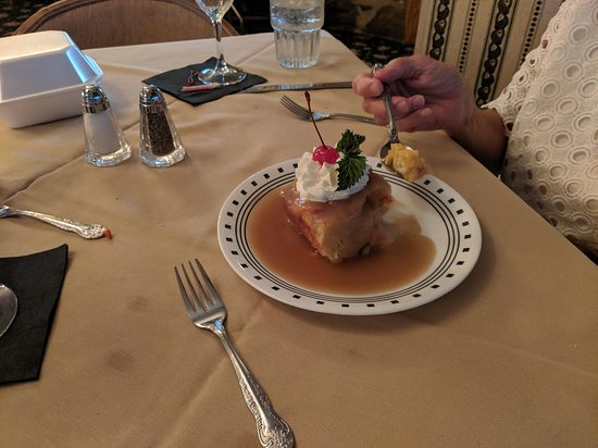 Bread Pudding with Hot Bourbon Sauce