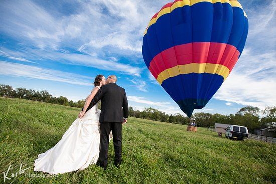 The United States Hot Air Balloon Team: Yep - you can in fact get married in a hot air balloon (or have tethered rides at your reception). Now that is something unique.