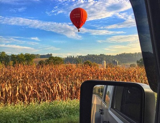 The United States Hot Air Balloon Team: Open year-round, it's a fun way to discover Lancaster in Fall, Winter, Spring, or Summer!