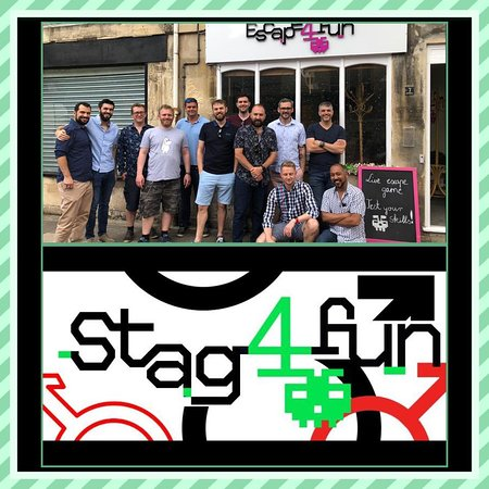 Stag Party at Escape4fun. Well done! Everyone contributed and the guys were simple magnificent! Congratulations. Thank you for selecting Escape4fun.