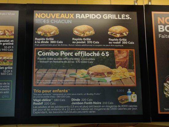 Subway, Sainte-Adele - 864 Boul de