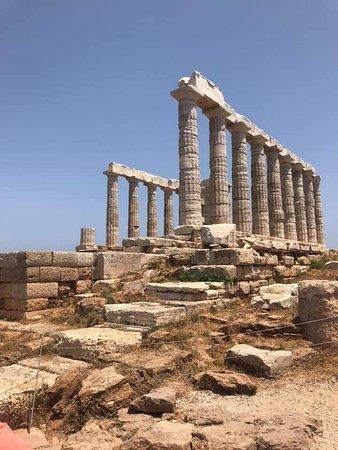 The Temple of Poseidon in Cape Sounio