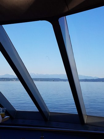 Day Trip from Seattle to Victoria on the Victoria Clipper: View from Comfort class