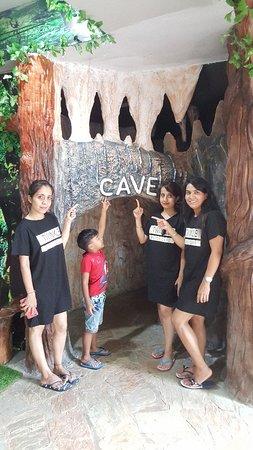 Tree girls flailing market Maeklong Raiway market Erawan waterfall