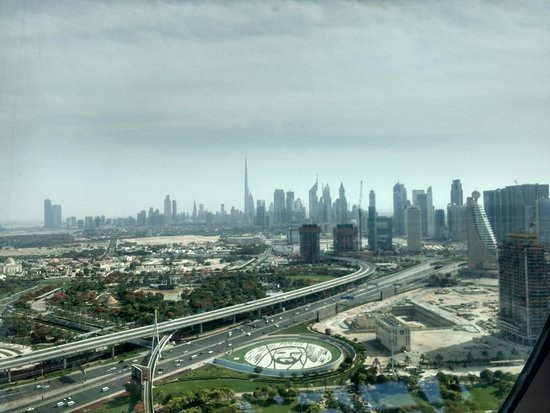 View from top of Dubai Frame
