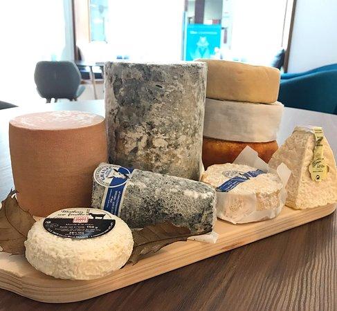 Variedade de queijos