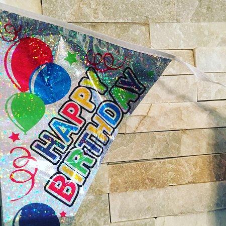 Caspian Turkish Restaurant : Birthday decorations on us when requested