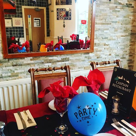 Caspian Turkish Restaurant : Birthday party decorations on us when requested