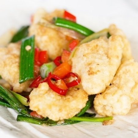 Szechuan Squid : Deep fried squid tossed in five spices