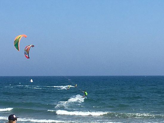 Kite surfing session in an amazing spot.