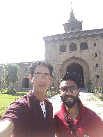 Malaysian guests enjoying at Jamia Masjid  Kashmir