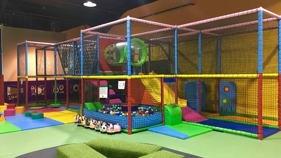 Climb and explore in our under 3's toddler area.