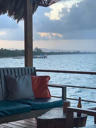 The Lodge at Jaguar Reef: View from Big Dock bar