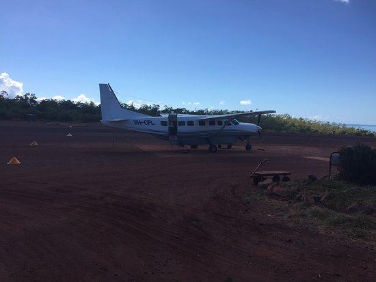 Landing strip on Cockatoo Island