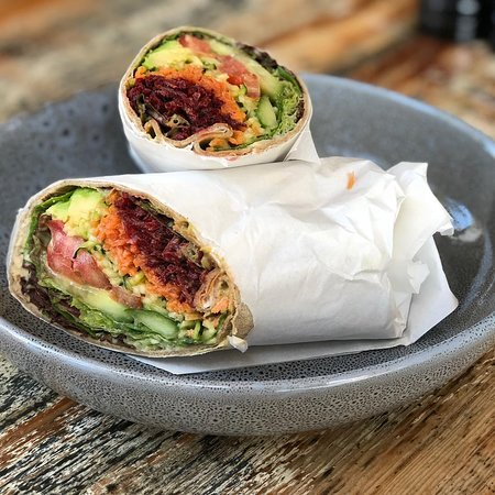 Pure Wholefoods: Featured: Salad Wrap  We offer a range of salad wraps with a range of fillings for all dietary requirements.
