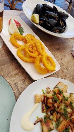 Chabada: Calamares, mejillones y sepia