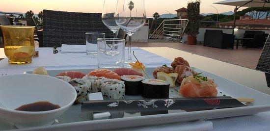 Sushi in terrazza