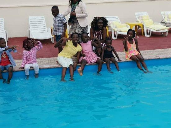 Libreville, Gabão: lors de l'anniversaire de mon fils