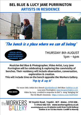 Bel Blue & Lucy Jane Purrington Artists in residence August 2019