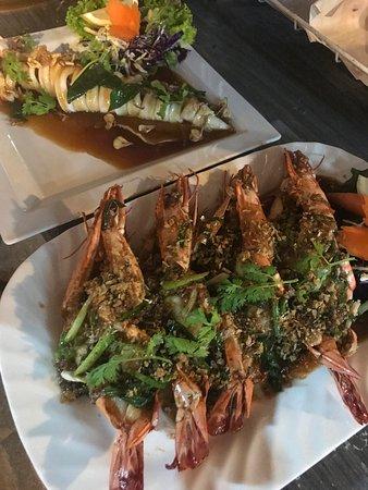 Coconut Seafood Restaurant & Bar: King Prawns & Squid