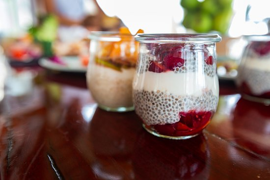 The Sands at St Francis: These homemade chia seed puddings are a hit during breakfast.
