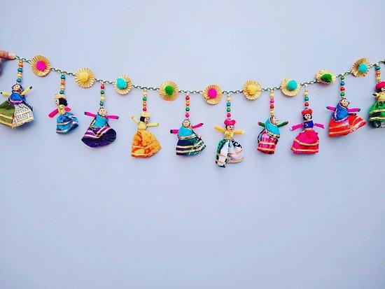 Pita Shree Handicraft : Puppet Toran Door Hanging. size 1 meter