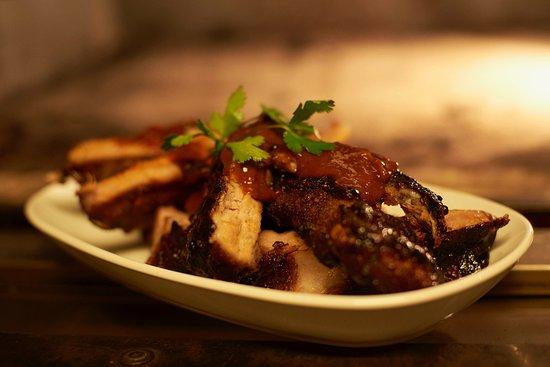 BBQ ribs with sticky smokey sauce...