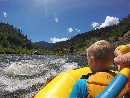 Somes Bar, CA: White water rafting on the Klamath on Marble Mountain Ranch family vacation (July 2019).