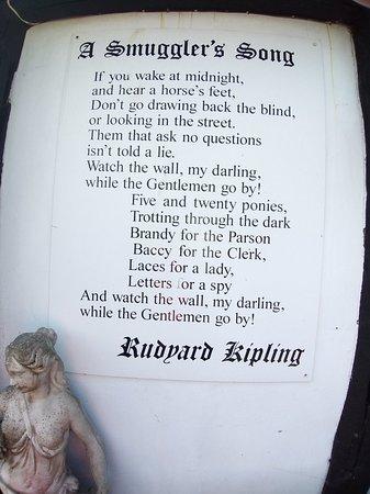 The Mermaid Inn: Poem at back of hotel