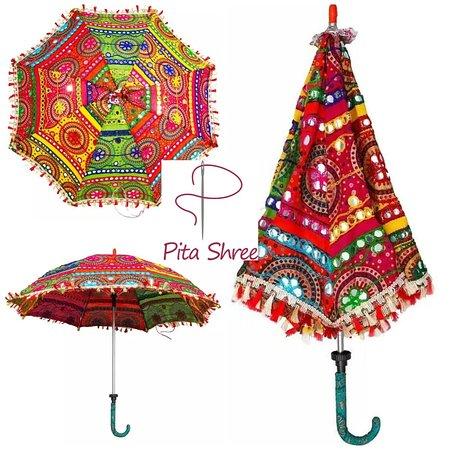 Pita Shree Handicraft : Rajasthani colorful umbrellas. Sun parasols. And decoration purpose. Size 24*28 inches.